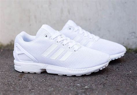 the adidas originals zx flux quot all white quot are not the kicks to step sneakers adidas