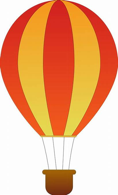 Air Balloons Vertical Striped Clipart