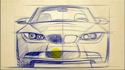 How To Draw Bmw 3 Series Front View