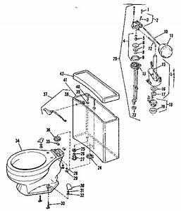 Sears Model 7384914 Toilet Genuine Parts