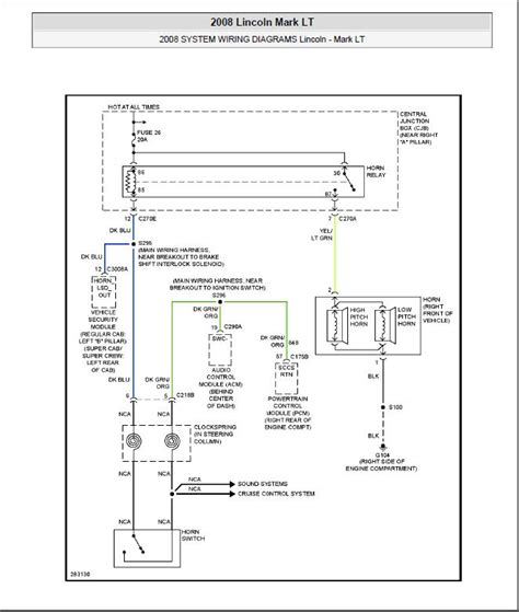 Horn Wiring Diagrams Needed Ford Forum