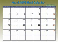 2019 Monthly Calendar Printable Pdf 2018 Calendar Printable