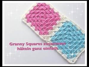 Granny Squares Häkeln : ganz einfach granny squares zusammen h keln f r anf nger youtube ~ Orissabook.com Haus und Dekorationen