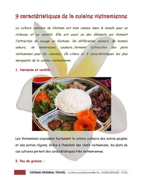 la cuisine de no駑ie 9 caractéristiques de la cuisine vietnamienne