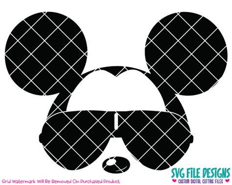1 svg digital cutting file 1 eps digital. Cool Mickey Mouse Aviator Sunglasses SVG Cut File Set