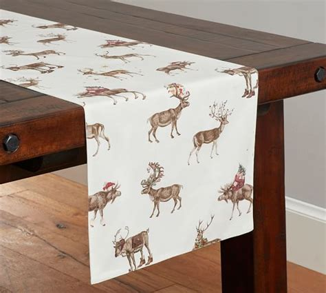 table runner pottery barn silly stag table runner pottery barn