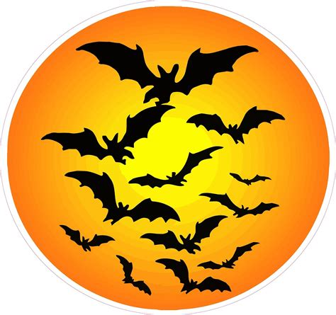 haunted moon with bats wall decor decal nostalgia decals