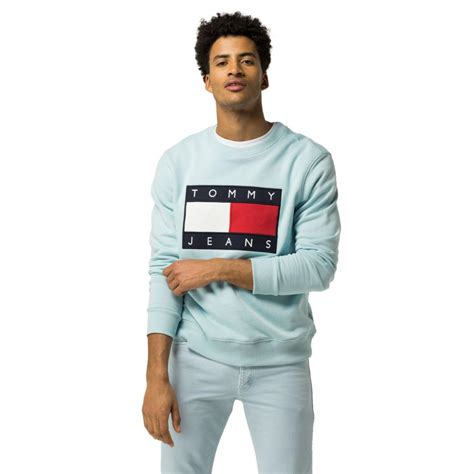 Mens Tommy Hilfiger Clothing  Tommy Jeans Flag Sweatshirt