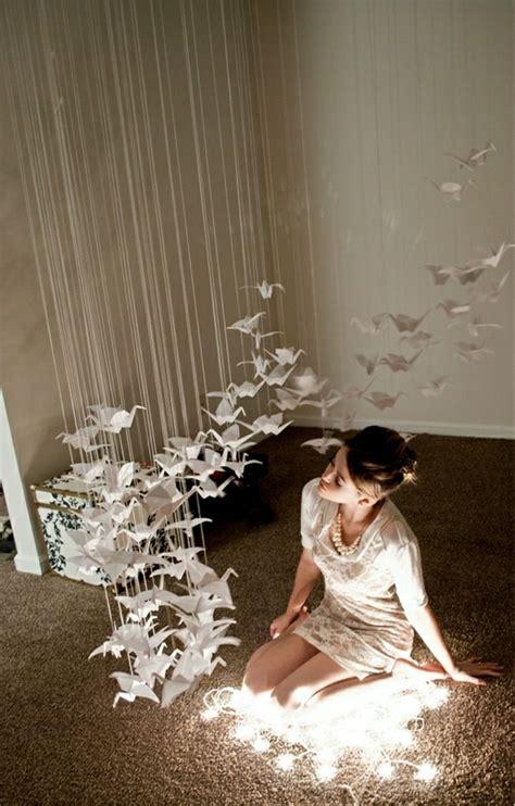 beispiele fuer origami kranich dekoration churros