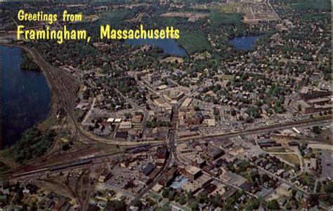 aerial view  framingham massachusetts