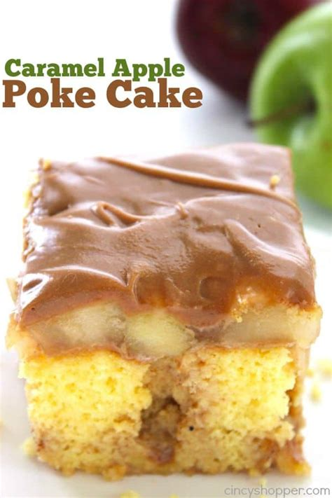 caramel apple poke cake cincyshopper