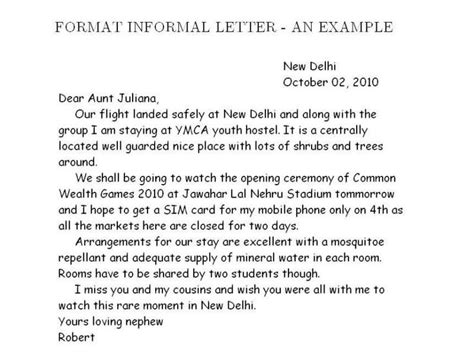informal letter template google search essay examples