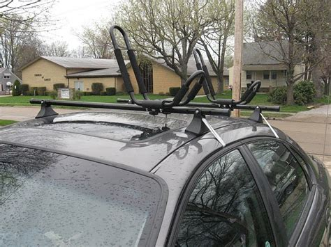 kayak roof rack for cars without rails occasional hyker low cost kayak roof rack solution for