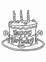 Cake Coloring Birthday Printable Cakes Geburtstagstorten Personal Extraordinary Malvorlage Colouring Stimmen sketch template
