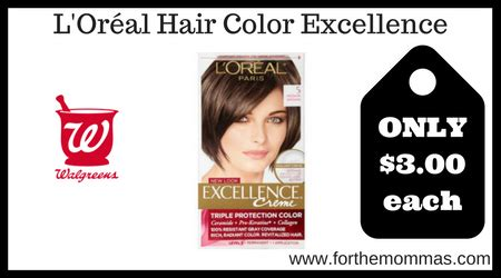 loreal hair color coupons walgreens l or 233 al hair color excellence only 3 each
