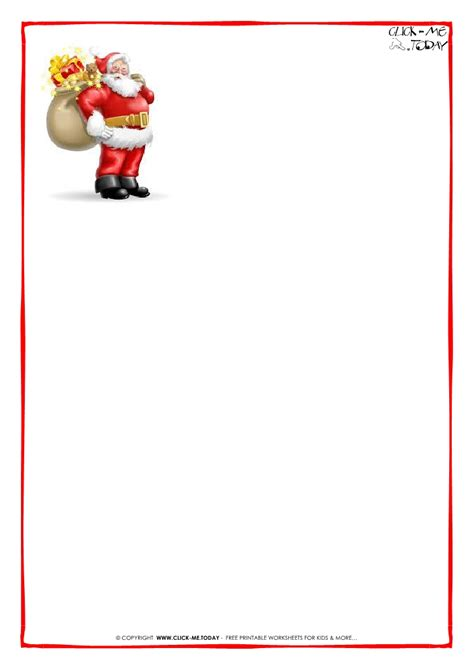 santa claus letter template printable  christmas