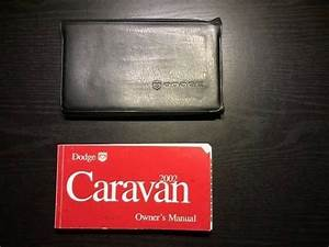 2002 Dodge Caravan Owners Manual With Case Oem Free