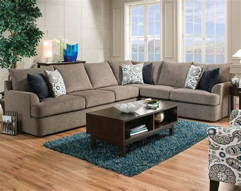 American Freight Sectional Sofas by Gray 2 Grandstand Flannel Two