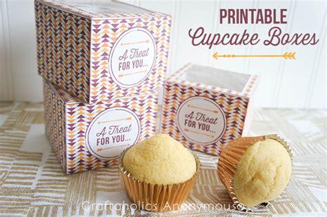 craftaholics anonymous printable cupcake boxes