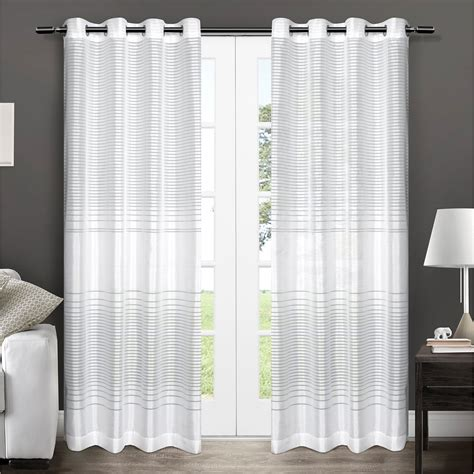 striped curtain panel pair exclusive home pesaro striped grommet curtain panel pair