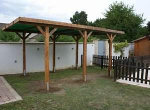 Bois autoclave et toit plat le carport qui porte chance for Garage en bois autoclave
