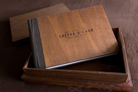 turks caicos wedding album  box  wood cover