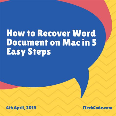 recover word document  mac   easy steps