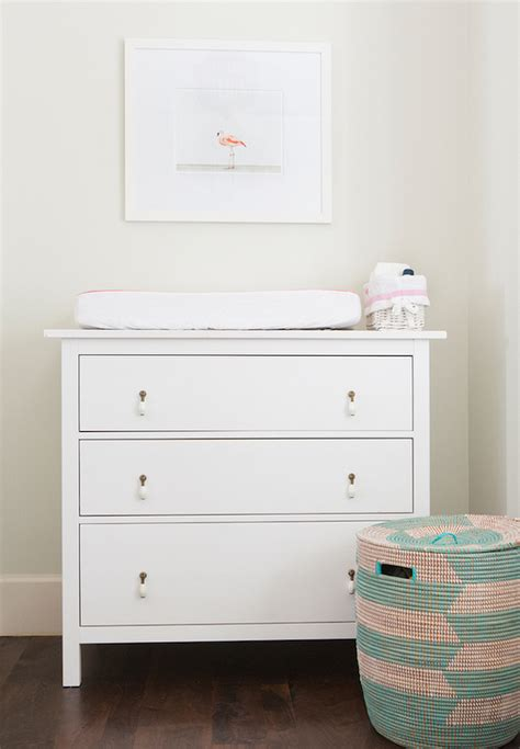 baby changing dresser ikea nursery with ikea hemnes 3 drawer chest transitional