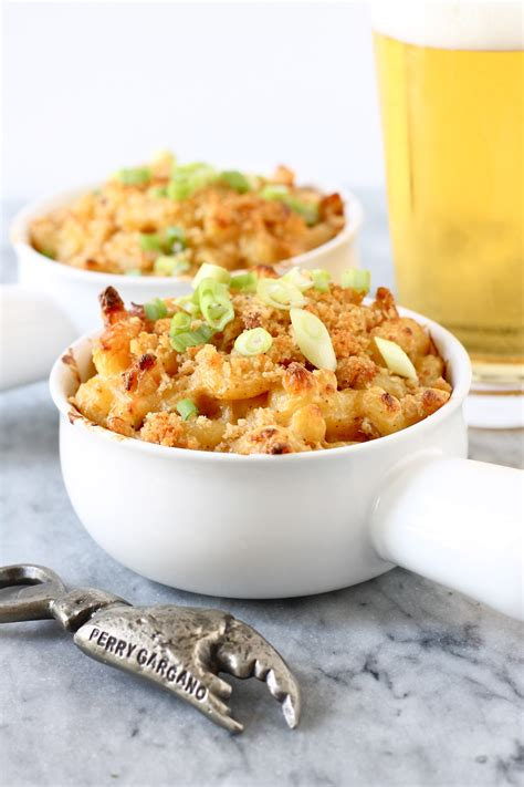 This video will show you how to make luncheon meat mac and cheese salad. Crab Macaroni and Cheese   Perpetually Hungry
