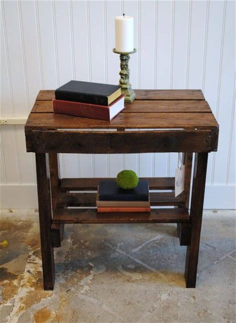There are 692 pallet coffee table for sale on etsy, and they cost 213,49 $ on average. Appreciating Ideas for a perfect Pallet end table | 101 Pallets