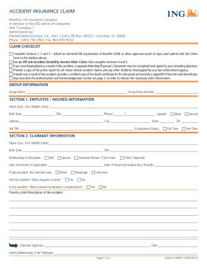 Reliastar life insurance company and its select*life separate account reliastar select variable account supplement dated june 14, 2010 this supplement updates and amends certain information contained in. Ing Online Claim Forms - Fill Online, Printable, Fillable ...