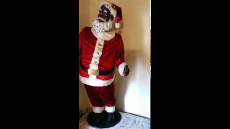 life size animated santa claus african american youtube