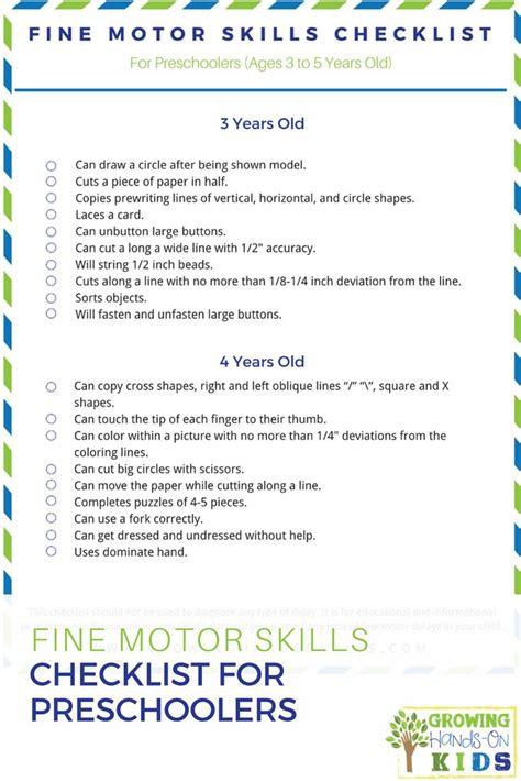 year old assessment for preschool motor skills checklist for 4 year olds impremedia net 3