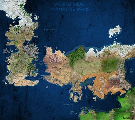 paulyhartcom game  thrones map ice  fire