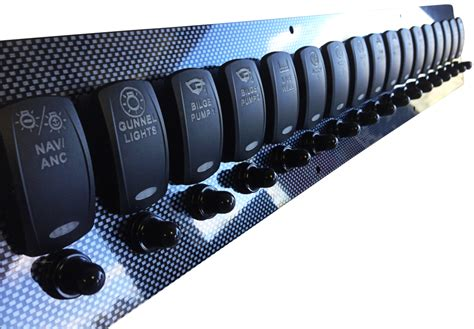 new custom switch panel tons of the hull boating and fishing forum