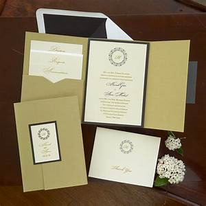 hannah folio pocket invitation set thermography wedding With hannah handmade wedding invitations