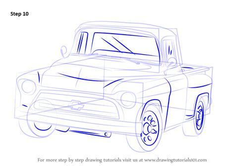 step  step   draw   chevy truck drawingtutorialscom