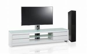 Banc Tv Design : meuble blanc tv design blanc 200 cm s jour mur tv living ~ Teatrodelosmanantiales.com Idées de Décoration