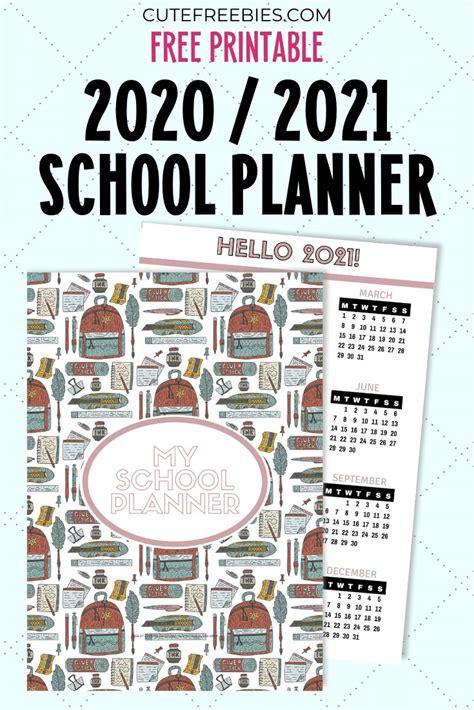 school planner  printable  cute freebies