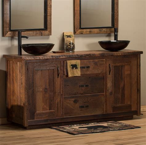 Bathroom Vanities - timber frame barnwood vanity barnwood bathroom vanities