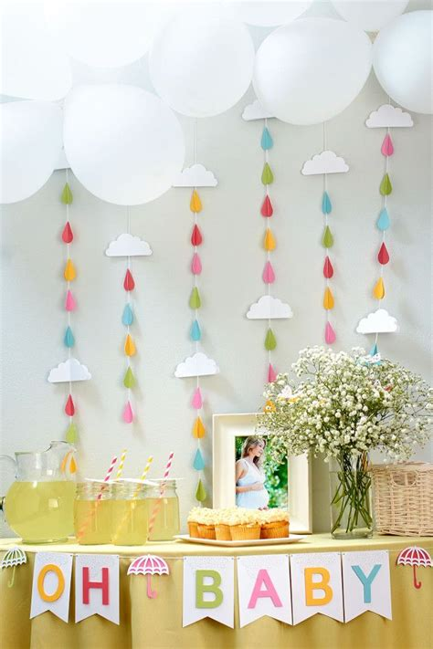 raindrop baby shower ideas  pinterest cloud