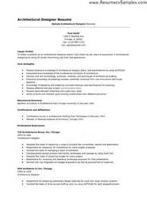 architectural drafting resume exles canada design resume sales designer lewesmr