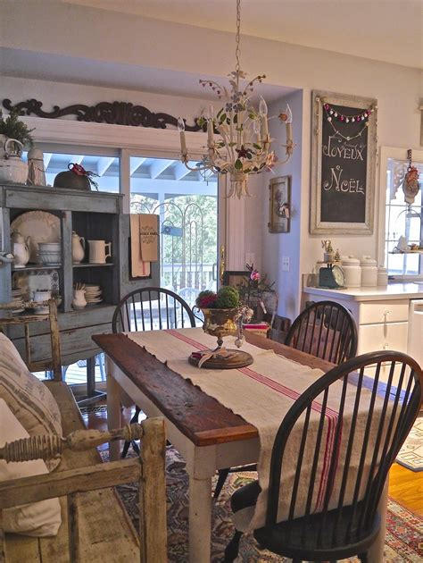 Farmhouse Kitchen This Dining Area With Its Vintage