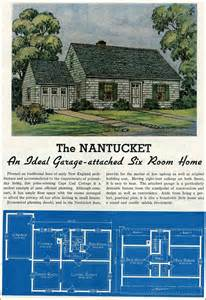 cape cod house plans with attached garage 1939 cape code with attached garage lewis manufacturing new liberty homes 1930s