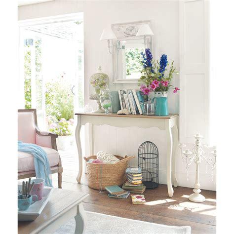 table console en bois blanche   cm leontine maisons du monde