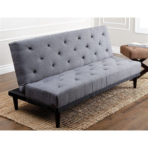 fabric futon sofa bed abbyson living 39 marlene 39 grey fabric futon sofa bed