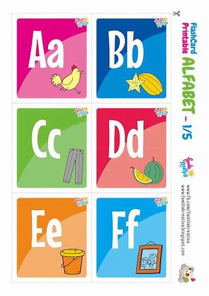 Abjad Alfabet Flashcard Alphabet Printable Huruf Indonesia
