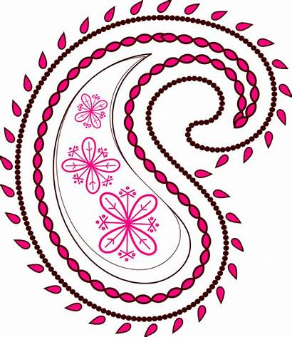 Paisley Pink Floral Clip Clipart Svg Transparent