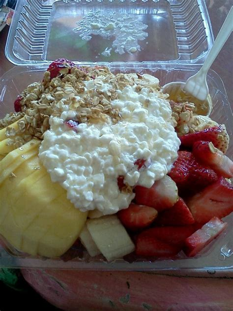 fruit salad with cottage cheese fruit salad with cottage cheese granola and honey yelp
