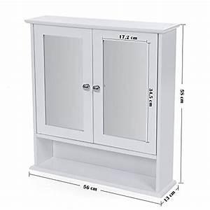 Spiegel Mit Ablage Weiß : songmics spiegelschrank badschrank h ngeschrank spiegel mit ablage schminkschrank aus holz 56 x ~ Indierocktalk.com Haus und Dekorationen